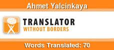 English to Turkish & German to Turkish & French to Turkish volunteer translator